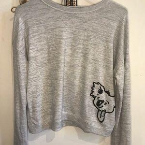 Hollister long sleeve grey crop sweater